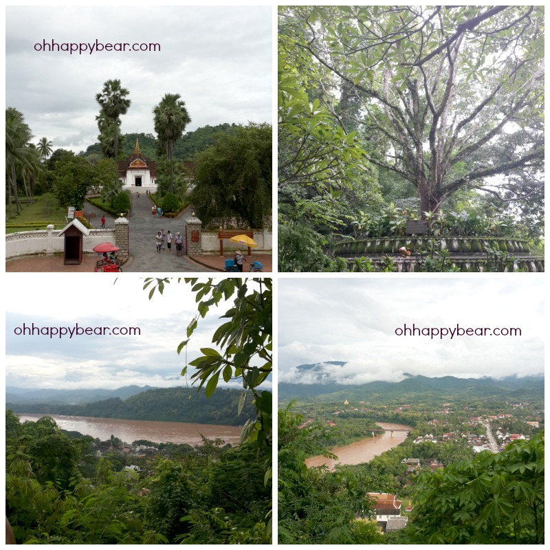 The Grand Palace, the big trees and the rivers of Luang Prabang.
