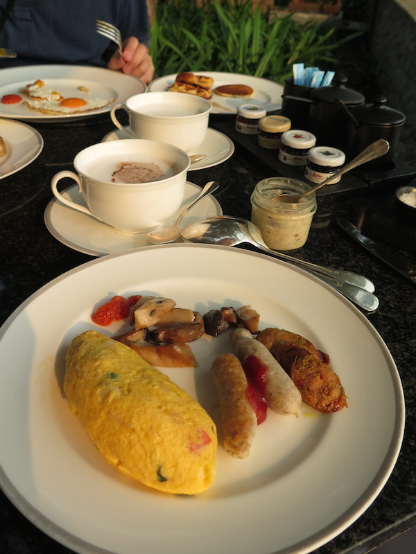 Our hearty and delicious breakfast at the Anantara Chiang Mai. With more choices from the menu and food stations.