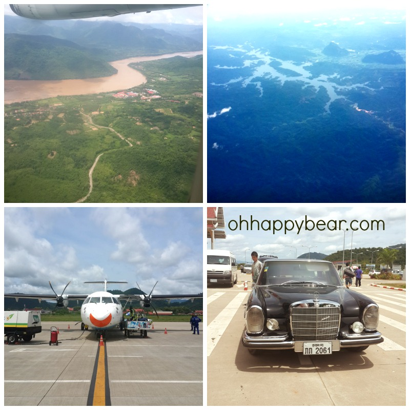 From the sky, the rivers of Laos, our ride in the sky and on the road while in Luang Prabang.